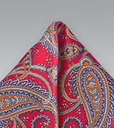 Elegant Silk Paisley Pocket Square