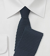 Navy Knit Tie with Hot Pink Tip