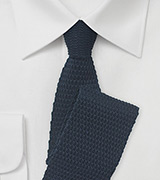 Navy and Yellow Knitted Necktie