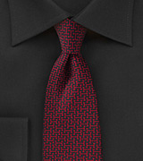 Edgy Graphic Print Tie in Black and Red