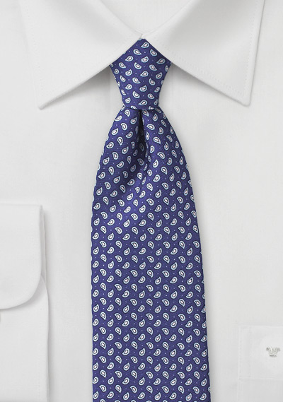 Allover Paisley Tie in Blue and Pink