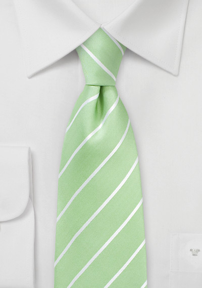 Kids Tie in Pistachio Green
