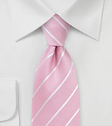 Flamingo Pink Summer Silk Tie