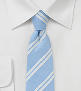 Light Blue Summer Stripe Necktie