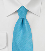 Herringbone Tie in Bright Blue