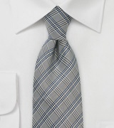 Glen Checked Designer Tie