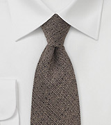 Brown Barleycorn Textured Tie