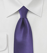 Textured Tie in Violet Grape