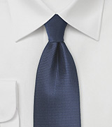 Textured Tie in Dark Navy