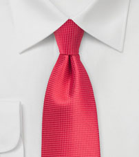 Grenadine Red XL Length Tie