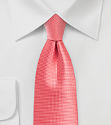 Solid Color Necktie in Georgia Peach