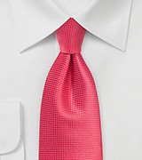 Textured Necktie in Spiced Coral