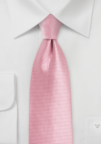 Flamingo Pink Tie in XL Length