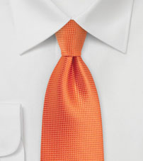 XL Length Tie in Carrot Orange