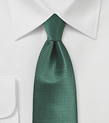 Textured Tie in Mallard Green