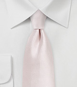 Textured Necktie in Heavenly Pink