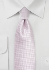 Solid Textured Tie in Pink Mist
