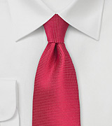 Textured Red Tie in Single Color