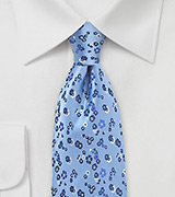 Light Blue Floral Designer Tie