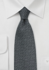 Wool Autumn Tie in Pewter