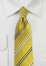 Trendy Repp Tie in Citrine Yellow