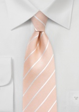 Nude Colored Tie in XL Length