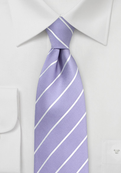 Striped Tie in Bougainvillea