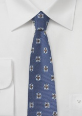 Retro Skinny Tie in Vintage Blues