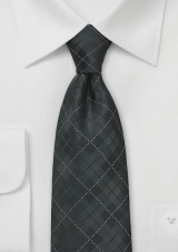 Elegant Plaid Tie in Charcoal and Black