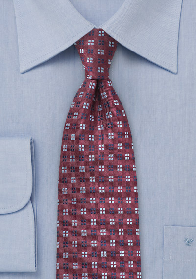 Silk Tie in Tawny Port Color