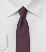 Mahogany Red Wool Tie