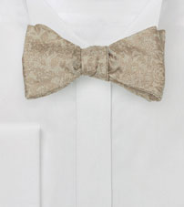 Self Ties Floral Bow Tie in Champagne
