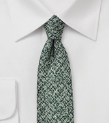 Tweed Skinny Tie in Pine Green