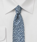 Blue and Silver Tweed Tie