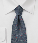 Herringbone Tie in Denim Blue