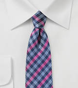 Multicolored Gingham Check Tie