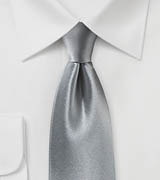 Satin Silk Tie in Dove Gray