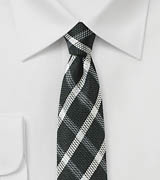 Windowpane Check Skinny Tie