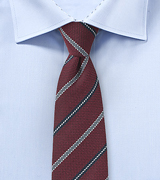 Striped Autumn Tie in Oxblood