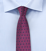 Grape Colored Square Design Tie