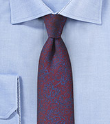 Vintage Floral Tie in Burgundy and Purple