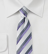 Summer Silk and Linen Striped Tie