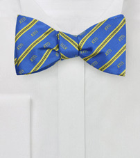 Striped Self Tie Bow Tie for Alpha Tau Omega