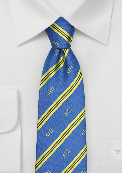 Striped Silk Tie for Alpha Tau Omega