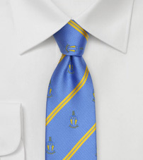 Alpha Tau Omega Striped Skinny Tie