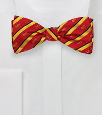 Striped Silk Bow Tie for Phi Kappa Tau