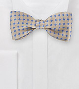 Art Deco Bow Tie in Golden Wheat