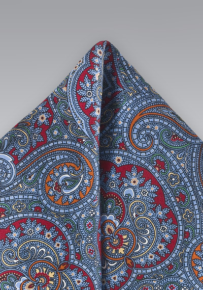 Moroccan Paisley Pocket Square