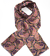 Vibrant Paisley Scarf in Midnight Blue