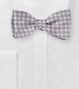 Designer Bow Tie in Taupes and Pinks
